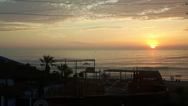 Huanchaco sunset. Our new home starting in July.